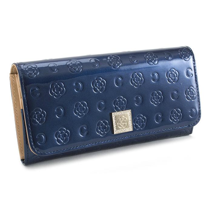 展示品箱なし クレイサス 財布 長財布 紺(ネイビー) CLATHAS 182266-84 レディース 婦人 【送料無料】