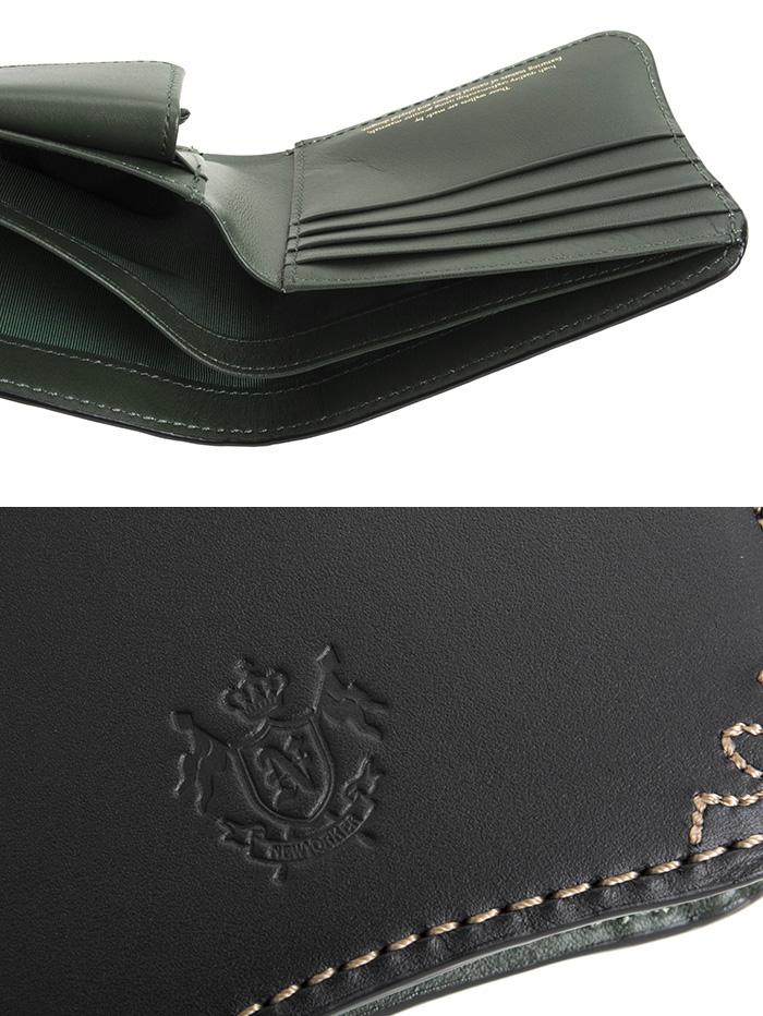 展示品箱なし ニューヨーカー 財布 二つ折り財布 黒 ブラックNEWYORKER nyk363 10 メンズ 紳士送料無料BWxQredCo