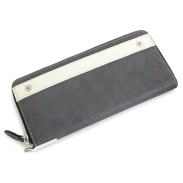 展示品箱なし ニューヨーカー 財布 長財布 ラウンドファスナー 黒(ブラック、グレーっぽいブラックです。) NEWYORKER nyk395-10 メンズ 紳士 【送料無料】