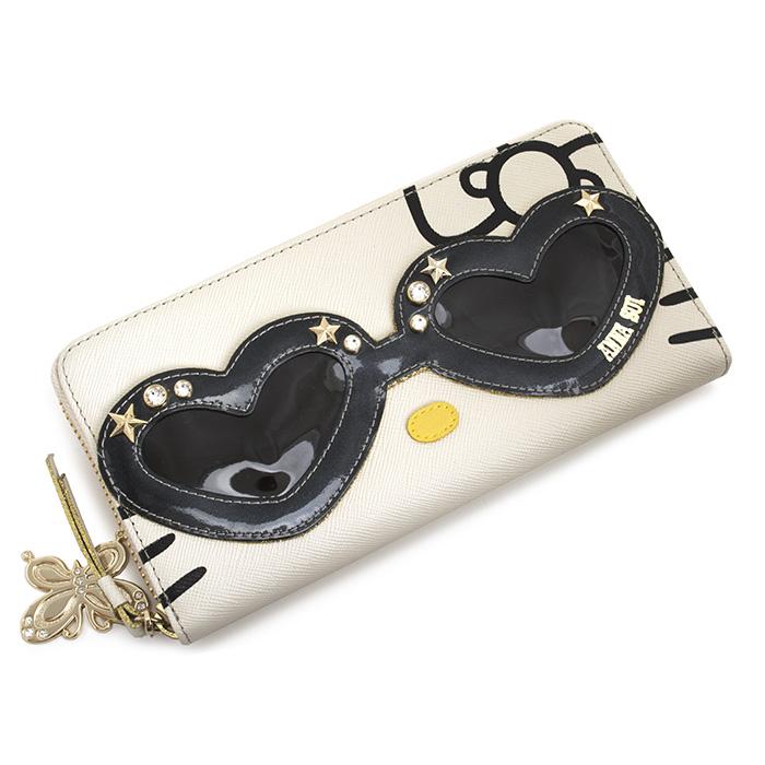 アナスイ 財布 長財布 ラウンドファスナー オフホワイト ANNA SUI 311991-43 レディース 婦人 【送料無料】