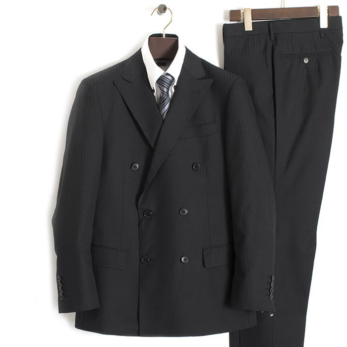 ダーバン スーツ ストライプスーツ D'URBAN 黒(ブラック) 38410821-97 メンズ 紳士 【送料無料】