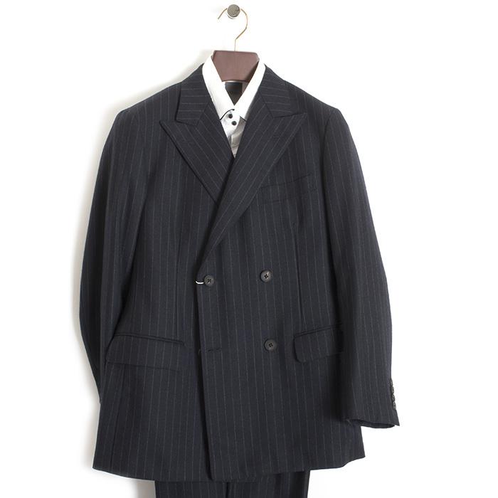 アクアスキュータム スーツ ストライプスーツ Aquascutum 紺(ネイビー) a9212914-39 メンズ 紳士 【送料無料】