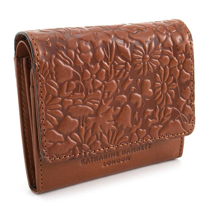 キャサリンハムネット 財布 二つ折り財布 オレンジ(茶色がかったオレンジです。) KATHARINE HAMNETT LONDON khp402-42 レディース 婦人 【送料無料】