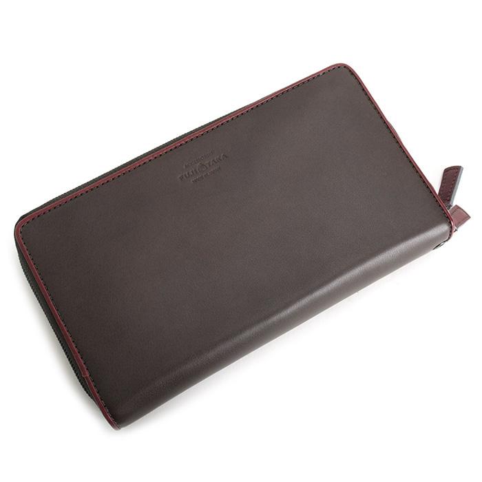 フジタカ 財布 長財布 セカンドバッグ ラウンドファスナー 灰(グレー。茶色がかったグレーです。) FUJITAKA 041614 メンズ 紳士 【送料無料】