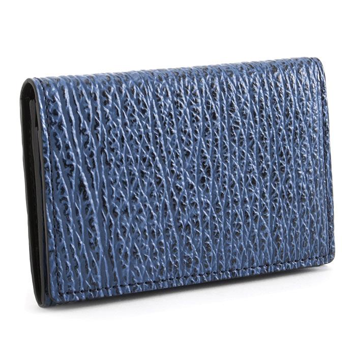 フジタカ 名刺入れ カードケース 青(ブルー) FUJITAKA 627603 メンズ 紳士 【送料無料】