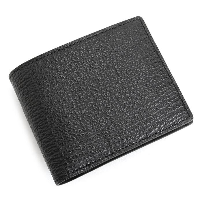 フジタカ 財布 二つ折り財布 黒(ブラック) FUJITAKA 627604 メンズ 紳士 【送料無料】