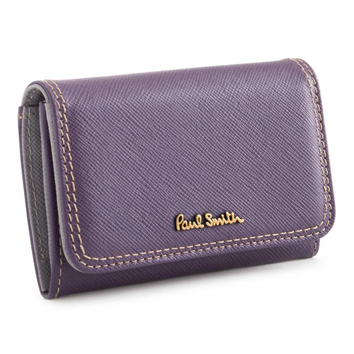 ポールスミス 名刺入れ カードケース 紫(パープル) Paul Smith pww800-34 レディース 婦人 【送料無料】