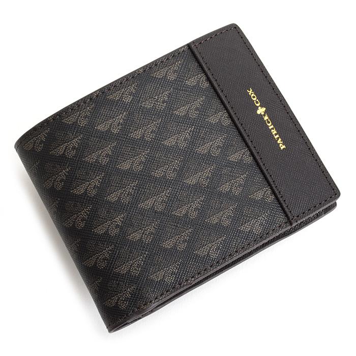 展示品箱なし パトリックコックス 財布 二つ折り財布 チョコ PATRICK COX pxmw6ds2 メンズ 紳士 【送料無料】
