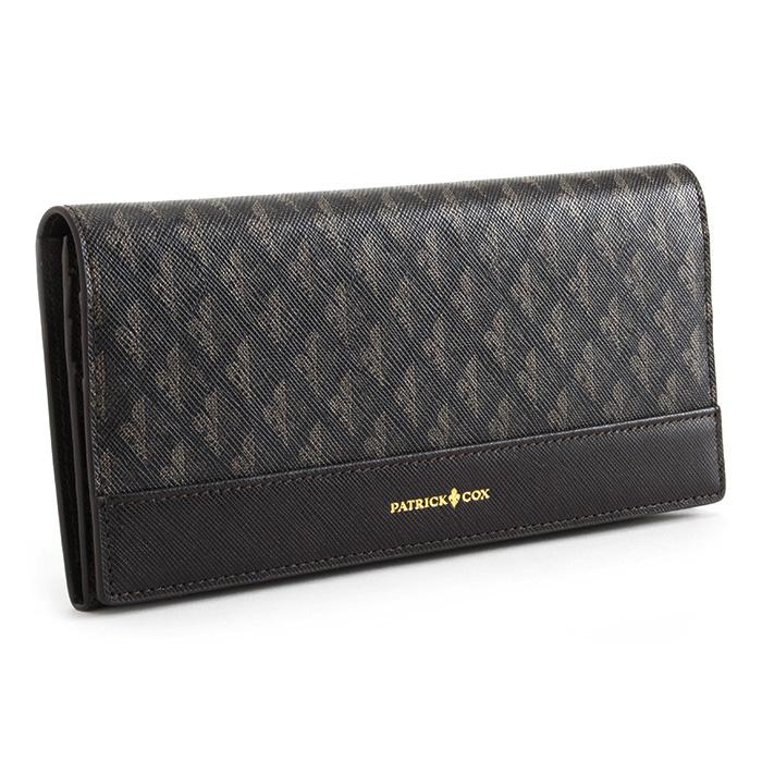 展示品箱なし パトリックコックス 財布 長財布 チョコ PATRICK COX pxmw6dt1 メンズ 紳士 【送料無料】