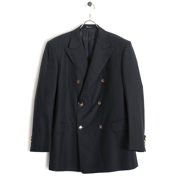 展示品 アクアスキュータム ジャケット BB6(Lサイズ相当) ダブルジャケット Aquascutum 紺(ネイビー) a9122820-39 メンズ 紳士