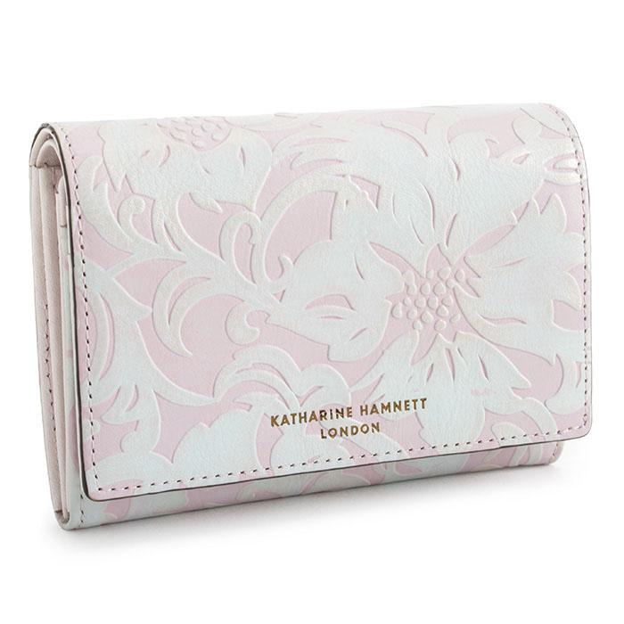 キャサリンハムネット 財布 二つ折り財布 ラベンダー KATHARINE HAMNETT LONDON khp432-33 レディース 婦人 【送料無料】