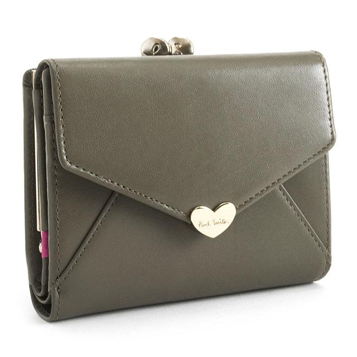 ポールスミス 財布 二つ折り財布 がま口財布 トープ Paul Smith pwu926-13 レディース 婦人 【送料無料】