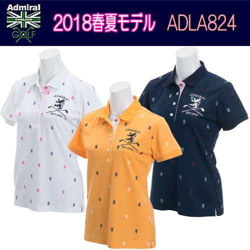 【2018 春夏モデル】半袖シャツ ADLA824 Admiral アドミラルレディースゴルフウェア(18SS) あす楽【送料無料】【ゴルフ】