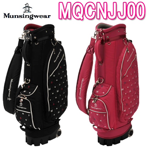 【キャスター付きキャディバッグ】レディース MQCNJJ002019春夏モデル Munsing wear マンシングウェア8.5型46インチ4.0kgナイロン/合成皮革(PU)フードカバー付き19SS【送料無料】【ゴルフ】
