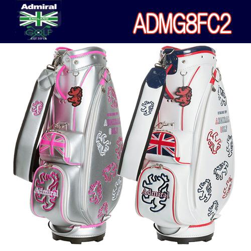 【2018秋冬モデル】キャディバッグ ADMG8FC2アドミラルゴルフ Admiral GolfUNI シンプル ランパント キャディバッグ8.5型46インチ対応3.1kg あす楽【ゴルフ】
