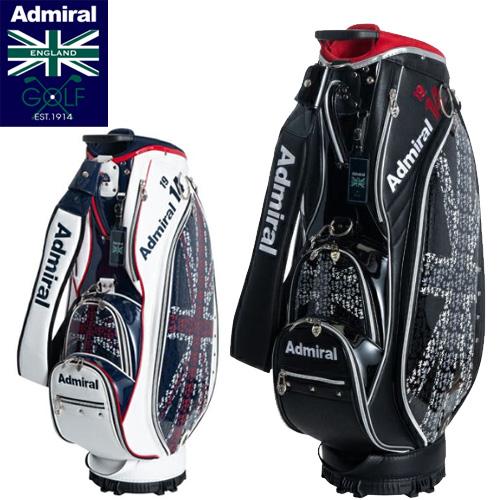 【2019秋冬】キャディバッグ ADMG9FC2アドミラルゴルフ Admiral Golfランパントフラッグ9.5型46インチ対応3.9kg あす楽【送料無料】【ゴルフ】
