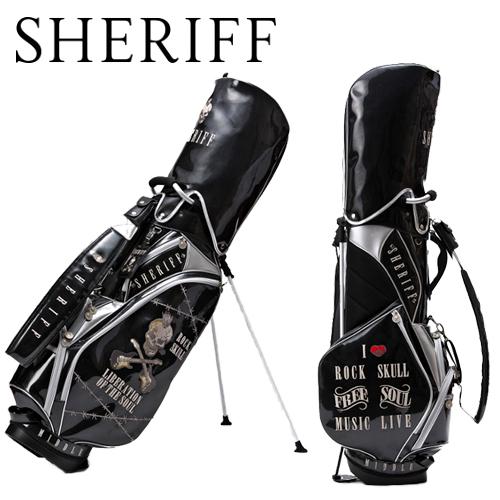 【シェリフ】スカルシリーズ SFS-005スタンド キャディバッグ SHERIFF9型 3.2kg 高級エナメルあす楽【送料無料】【ゴルフ】
