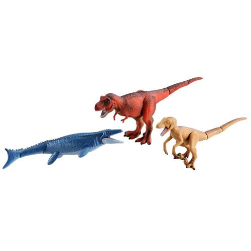 お洒落 アニア AA-04 激突 アウトレット☆送料無料 最強恐竜バトルセット ティラノサウルス モササウルス ミニチュア 動物 フィギュア 人形 ヴェロキラプトル タカラトミー