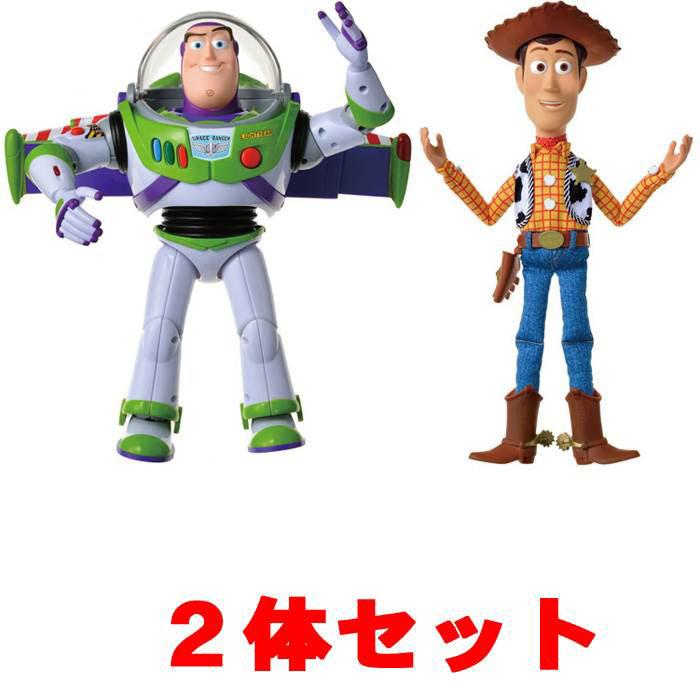 【バズ+ウッディ 2体セット】 トイ・ストーリー4 リアルサイズトーキングフィギュア バズライトイヤー + ウッディ