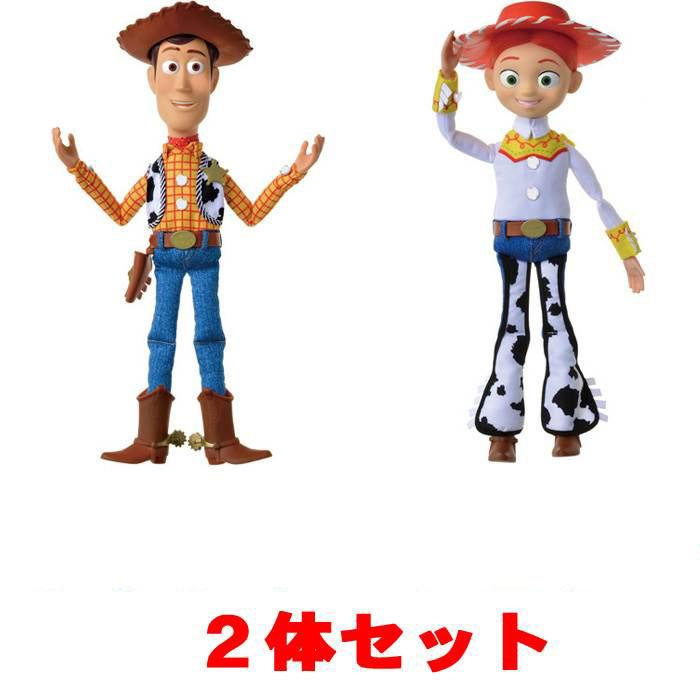 【ウッディ+ジェシー 2体セット】 トイ・ストーリー4 リアルサイズトーキングフィギュア ウッディ + ジェシー