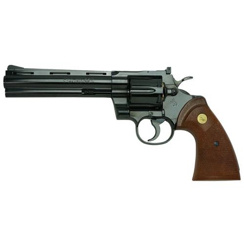 タナカ 発火モデルガン コルトパイソン .357マグナム 6インチ Rモデル スチールフィニッシュ