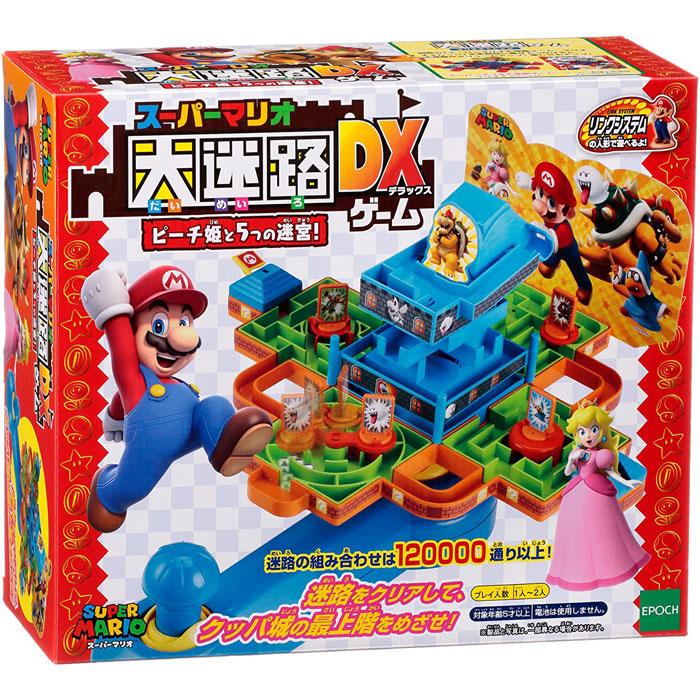 スーパーマリオ 情熱セール 大迷路ゲームDX ピーチ姫と5つの迷宮 リンクシステム対応 パーティーゲーム エポック社 アクションゲーム 海外輸入 テーブルゲーム