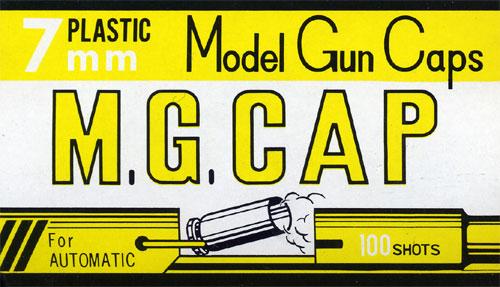 模型槍專用的蓋子火藥7mm M.G.CAP 100発入