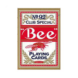 【全品ポイント増量!】 トランプカード ビーカード ポーカーサイズ (赤/レッド) 【Bee 正規代理店仕入品 ラスベガス・カジノで最も使用されているカード USプレイングカード社製】 【RCP】