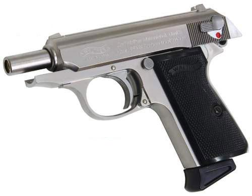 【送料無料!】 マルゼン ガスガン ニューワルサーPPK/Sブローバック ステンレス 【ガスブローバックガン 自動拳銃 オートマチックハンドガン WALTHER 18歳以上用】