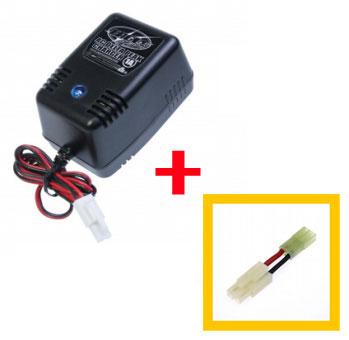 全品ポイント増量中 バッテリー充電器 ACデルタピーク チャージャー1A ミニ 全品ポイント増量 毎週更新 店内限界値引き中&セルフラッピング無料 ラージバッテリー変換コネクタセット 電動ガン用 イーグル模型