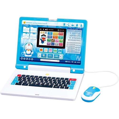 送料無料 ドラえもん ラーニングパソコン 学習用 マウス付属 STEM教育 プログラミング PC 人気 知育玩具 市販 バンダイ ドラえもんパソコン