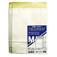 販売実績No.1 全品ポイント増量中 全品ポイント5倍 宅配バッグMサイズ10枚セット 梱包資材 PPフィルム加工で水に強く便利なテープ付き 新着