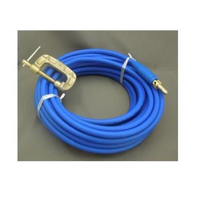 富士電線 溶接用電源ケーブル(キャプタイヤ)Fロン(青) 22sq 三立電器ケーブルジョイントJA300オス+三立電器アースクリップEB300 10M