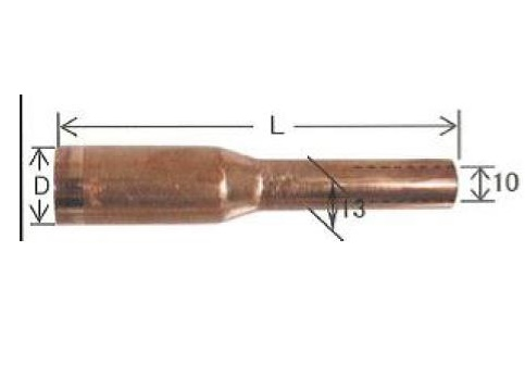 ダイヘン CO2溶接用ノズル(メッキ無し) 5個入り U2075J06