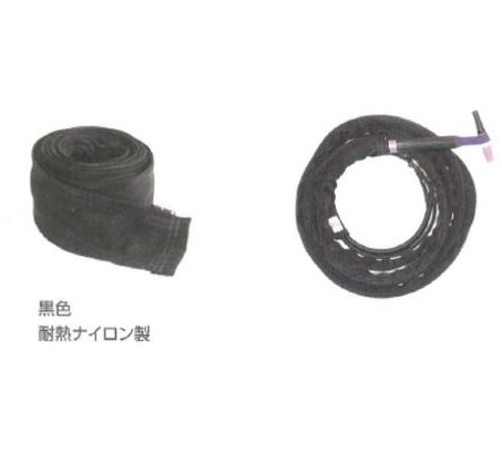 TIG溶接用ケーブルカバー ウエルドテック チャック式 幅75mm*8M TC-3-7.8Z ケーブルカバー 黒色耐熱ナイロン製