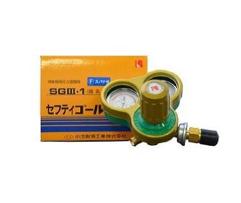 酸素調整器 ガス調整器 小池酸素 ガス溶断器用圧力調整器 酸素用(スパナ付)セーフティゴールド(関東式)SGV-1