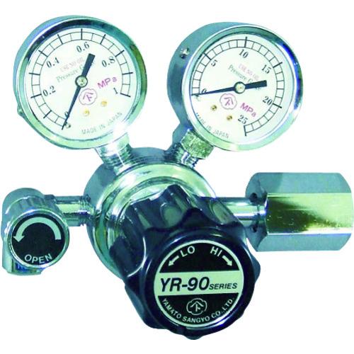 調整器 店舗 ガス調整器 ヤマト産業 汎用小型圧力調整器 YR-90-R-13N01-2210-HE バルブ付 激安特価品 市場店 バルブ付を買うなら溶接用品の専門店 ヘリウム用
