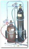 カミマル 小型ガス溶接セット KSスモール Xモデル(酸素500L、アセチレン0.5kg)ガス充填タイプ