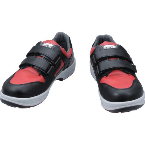 安全靴 短靴 シモン 軽量・快適3層底安全靴 8518赤 赤黒 23.5cm~28.0cm