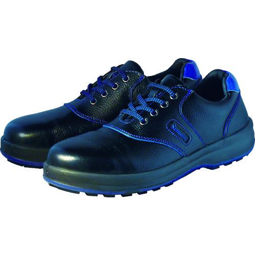 安全靴 短靴 シモン 耐滑・軽量3層底安全靴 SL11 ブラック/ブルー 23.5cm~28.0cm