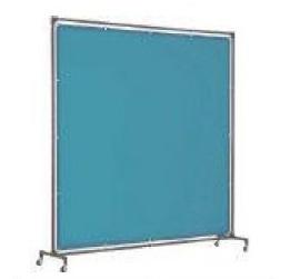 遮光フェンス トラスコ 溶接遮光フェンス 単体型 キャスター式 青 YF1015-B(1000mm×1500mm)遮光カーテン