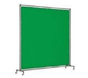 トラスコ(TRUSCO) 溶接遮光フェンス 単体型 キャスター式 緑 YFB-GN(1000mm×2000mm)
