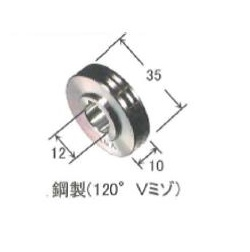 ダイヘン アルミワイヤ用送給ロール(0.8mm-0.8mm) K970F65