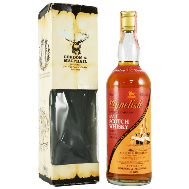 【オールドボトル】クライヌリッシュ 12年 バイカラー G&M 57% 750ml