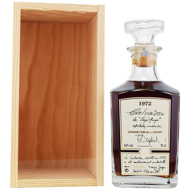 【芳醇、陶酔感、リンゴの蜜、高貴なリンゴの酸味とビター】デュポン 1972 46年 for スリーリバーズ 44% 700ml