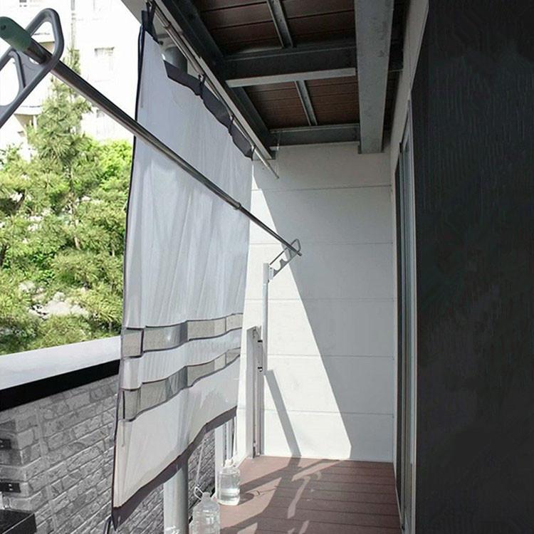 物干し竿 に通すだけ 雨よけ ベランダカーテン 180cm プライバシーも保護 エコガード 日よけ 在庫一掃 目隠し 開店記念セール 洗濯物の日焼け 日よけスクリーン かんたん設置 日除けカーテン に 防犯 風通し 通気窓付
