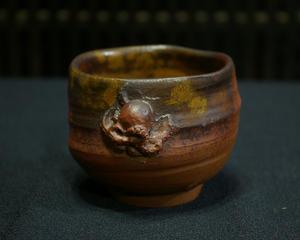 瀬戸内の「いいタコ」の湯のみ第17代 木村玉舟 本骨頂!陶彫刻の世界送料無料早い者勝ち