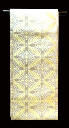 正絹 袋帯 NO16西陣一流機屋高島織物の袋帯シルバー地に七宝柄送料無料【smtb-TD】【yokohama】