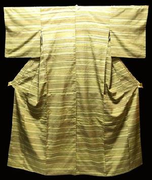 ランキングTOP5 リサイクル仕立て上がり正絹紬きもの 在庫処分中 正絹紬きもの NO12薄茶とモス 半額 中古 yokohama smtb-TD グリーンの横段幾何学模様仕立て上がり着物送料無料