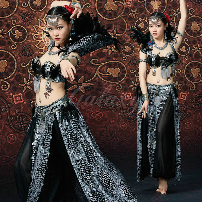 ATS ベリーダンス 上下セット 民族ダンス 舞台 演出 発表会 豪華 ステージ ダンス衣装 rywj01556【送料無料】